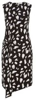 HUGO BOSS Enavia Crepe Printed Twist Dress L Patterned