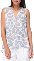B Collection by Bobeau Lily Sleeveless Floral Print Pleat Back Top
