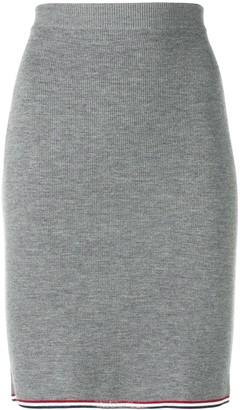 Thom Browne RWB Tipping Rib Pencil Skirt