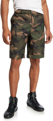 Valentino Men's Silk Camo Shorts