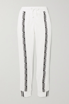 adidas Striped Cotton-jersey Track Pants - White