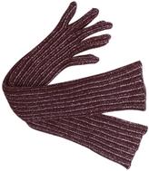 Prada Burgundy Wool Gloves