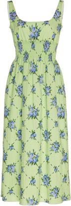 Emilia Wickstead Floral-Print Cotton-Blend Dress
