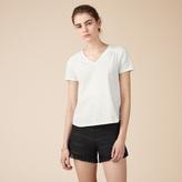 Maje Detailed cotton T-shirt