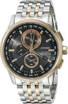 Citizen Men's World Chronograph A-T AT8116-57E Wrist Watches, Black Dial