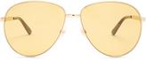 Gucci Enamel-Web aviator sunglasses