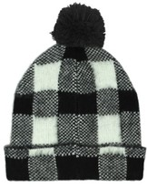 Michael Stars Women's Buffalo Check Beanie - Black