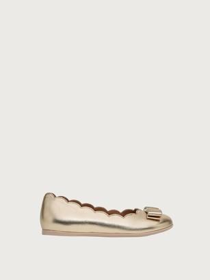 Salvatore Ferragamo Women Mini Varina ballet flat Gold Size 27