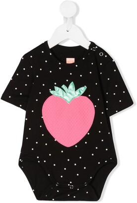 Wauw Capow Strawberry polka-dot print body