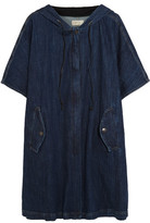 Current/Elliott Oversized Stretch-Denim Hooded Poncho