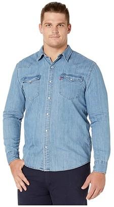 Levi's Big & Tall Big & Tall Big Tall Classic Western Shirt (Red Cast Stone) Men's Clothing