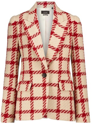 Isabel Marant Kioa checked wool-blend blazer