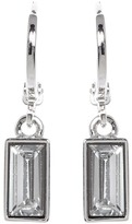 Vince Camuto Huggie Hoop & Faceted Crystal Drop Earrings