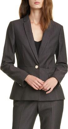 Ted Baker Neola Notch Lapel Jacquard Suit Jacket