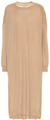 Stella McCartney Wool and silk midi dress