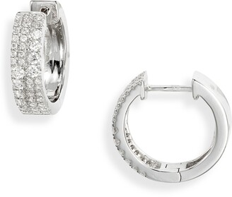 Bony Levy Bardot Luxe Diamond Hoop Earrings