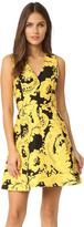 Alice + Olivia Nicolette V Neck Flare Dress