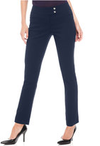 Style&Co. Style & Co Petite Slim-Leg Tummy-Control Pants, Only at Macy's