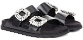 Roger Vivier Slidy Viv leather sandals