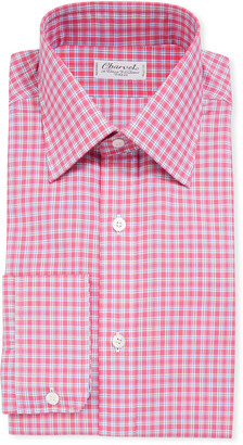 Charvet Men's Long-Sleeve Tattersall Dress Shirt