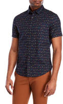 Original Penguin Holiday Light Print Short Sleeve Shirt