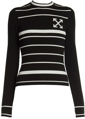 Off-White Double-Arrow Knit Sweater