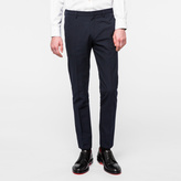Paul Smith Men's Slim-Fit Navy Cotton And Wool-Blend Seersucker Trousers