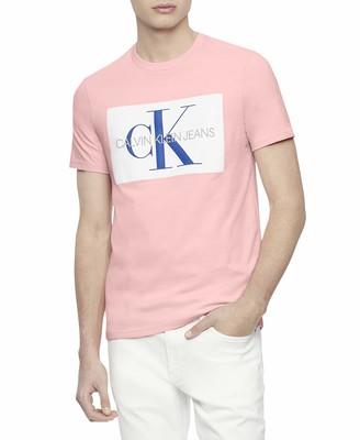 Calvin Klein Jeans Men's Short Sleeve T-Shirt Monogram Logo