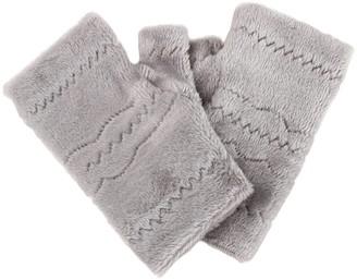 SSMENG Women Fingerless Gloves Clearance Winter Autumn Thick Warm Gloves Keyboard Leak Finger Gloves(Grey Free Size)