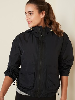 Old Navy Go-H20 Water-Resistant Hooded Utility Jacket for Women