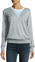Opening Ceremony Lightweight Trompe l'Oeil Sweater, Gray
