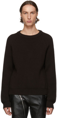 Maison Margiela Black Ribbed Sweater