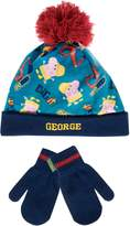 Peppa Pig George Pig Boys' George Pig Hat and Gloves Set Age 4 to 6 Years
