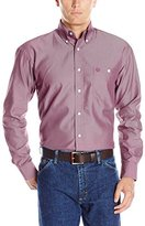 Wrangler Men's George Strait One Pocket Long Sleeve Solid Woven Shirt