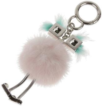 Fendi Light Blue/Pink Mink Fur Chick Bag Charm and Key Holder