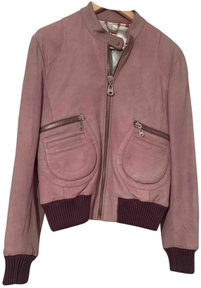 Doma Pink Leather Jacket for Women