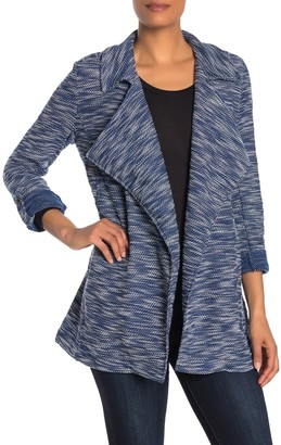 Bagatelle Drape Front Tweed Blazer