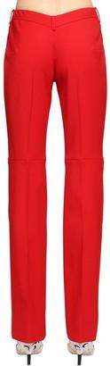 Marine Serre WOOL BLEND PANTS W/ V-SHAPED BACK