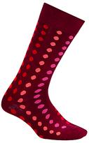 Paul Smith Gradient Polka Dot Socks, One Size, Pink