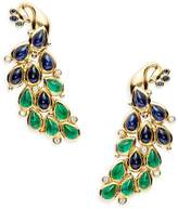 Temple St. Clair Women's Fortuna 18K Yellow Gold Peacock Crawler Earrings