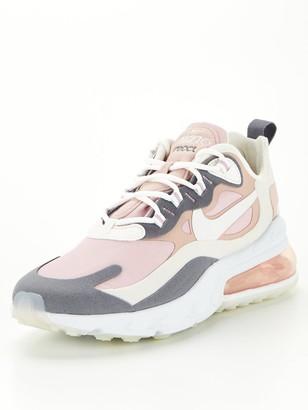 Nike Air Max 270 React Trainer - Pink/Grey