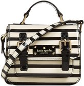 Kate Spade Scout Bag- Black/Cream Stripe-One Size