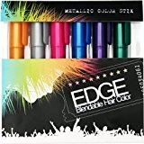 A.L.C. Hair Chalk | Metallic Glitter Temporary Hair Color - Edge Chalkers - Lasts up to 3 Days, No Mess, Built in Sealant, 80 Applications Per Stick, Works on All Hair Colors-6 COUNT.