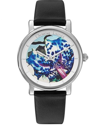 Christian Lacroix Womens Analogue Quartz Watch with Leather Strap CLWE44