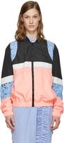 MSGM Pink Nylon Bomber Jacket