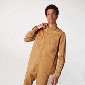 Lacoste Men's LIVE Boxy Fit Cotton Canvas Shirt