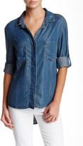 Adrienne Vittadini Roll Tab Denim Shirt