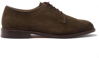Tricker's Robert Suede Derby Shoes - Khaki
