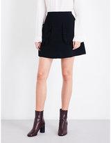 Sandro Ruffled-detail knitted skirt