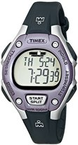 Timex Women's T5K410 Ironman Classic 30 Mid-Size Black/Lilac Resin Strap Watch